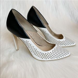 French Connection | Leather Perforated Maya Heel 8
